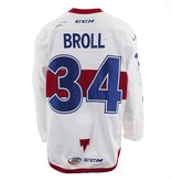 Club De Hockey 2017-2018 #34 DAVID BROLL WHITE GAME-USED JERSEY (SIGNED)