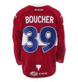 Club De Hockey CHANDAIL PORTÉ 2017-2018 #39 JORDAN BOUCHER ROUGE (AUTOGRAPHIÉ)