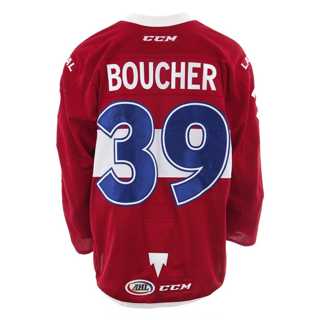 Club De Hockey 2017-2018 #39 JORDAN BOUCHER RED GAME-USED JERSEY (SIGNED)