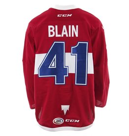 Club De Hockey CHANDAIL PORTÉ 2017-2018 #41 LUC-OLIVIER BLAIN ROUGE