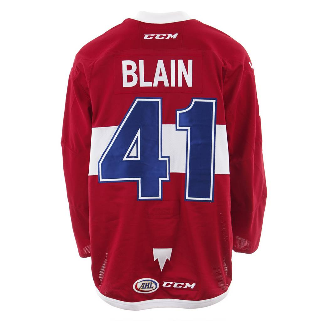 Club De Hockey 2017-2018 #41 LUC-OLIVIER BLAIN RED GAME-USED JERSEY