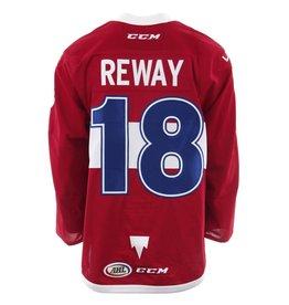 Club De Hockey 2017-2018 #18 MARTIN REWAY RED GAME-USED JERSEY