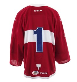 Club De Hockey 2017-2018 #1 RED GAME-USED JERSEY