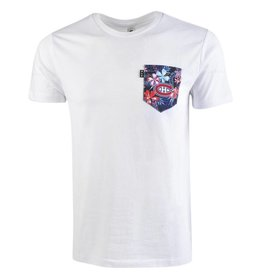 POCHE ET FILS MEN'S HAWAIIEN WHITE POCKET TEE