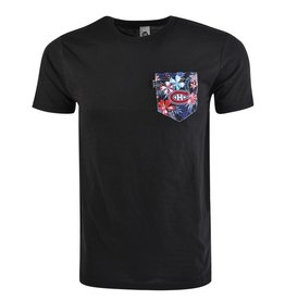 POCHE ET FILS MEN'S HAWAIIEN BLACK POCKET TEE