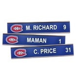 Club De Hockey CANADIENS LOCKER-ROOM NAMEPLATE