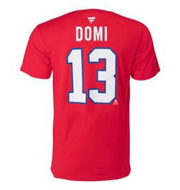 Fanatics MAX DOMI #13 RED FANATICS PLAYER T-SHIRT