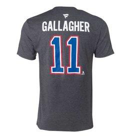 Fanatics BRENDAN GALLAGHER #11 GREY FANATICS PLAYER T-SHIRT