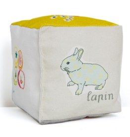 Mimi Lou Mimi Lou Cotton Cube cushion with words