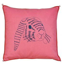 Mimi Lou Mimi Lou Rabbit Embroidered Cushion