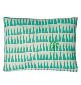 Mimi Lou Mimi Lou Palm Tree Embroidered cushion