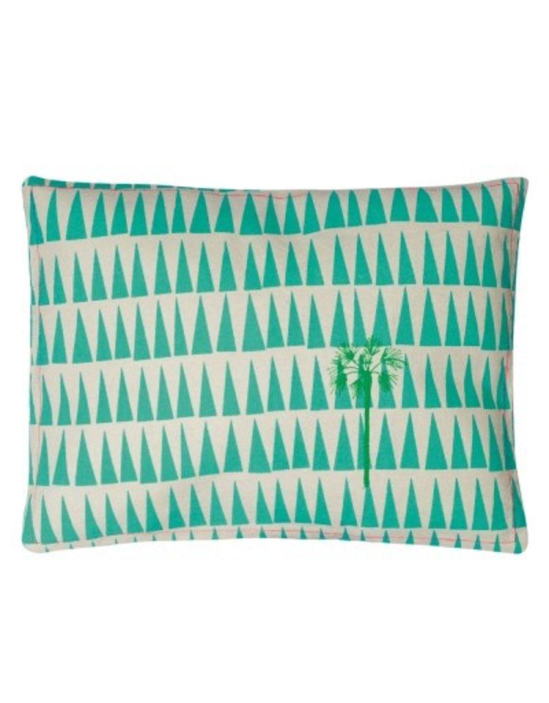 Mimi Lou Mimi Lou Palm Tree Embroidered cushion