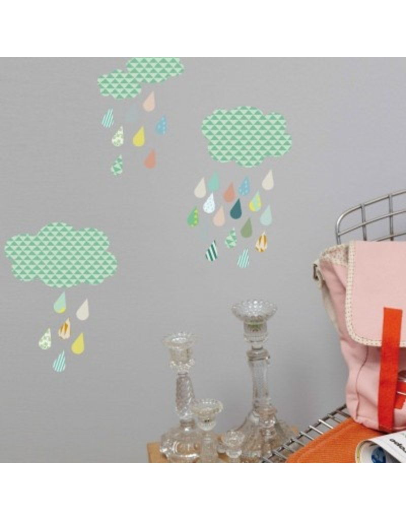 Mimi Lou Mimi Lou Cloud & Drops Wall stickers