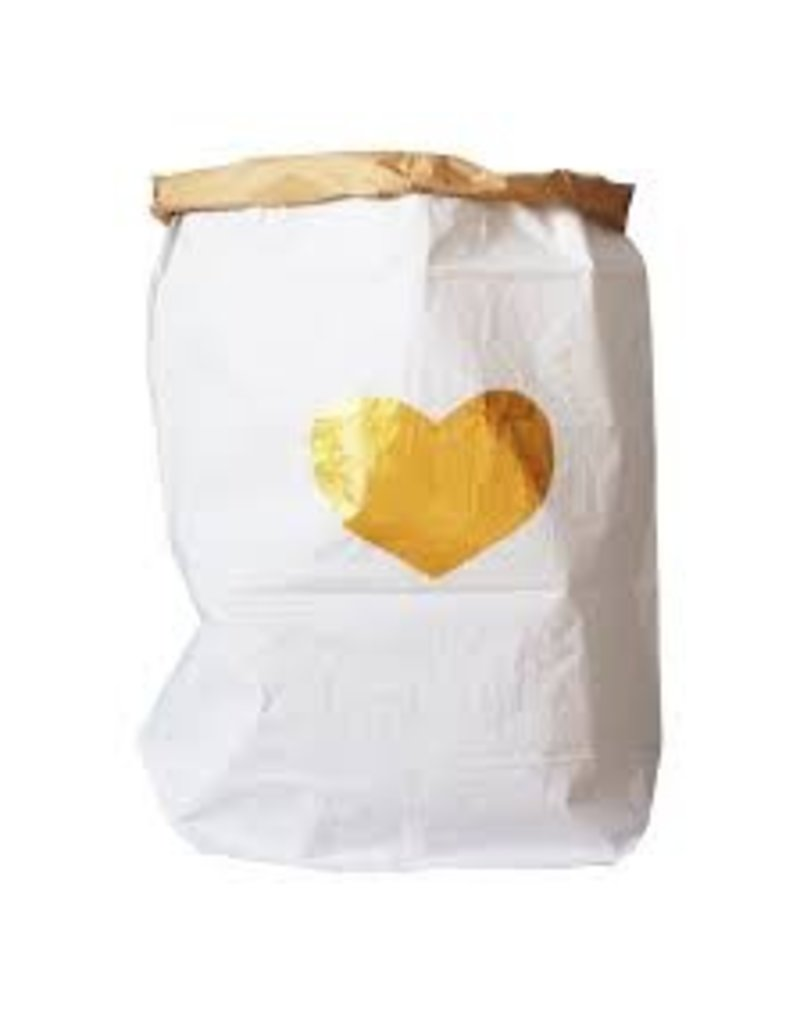 Tell Kiddo Tell Kiddo Paper Bag Heart Gold