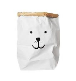 Tell Kiddo Tell Kiddo Paper Bag Bear Black