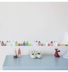 Mimi Lou Mimi Lou Little Houses Wall Border