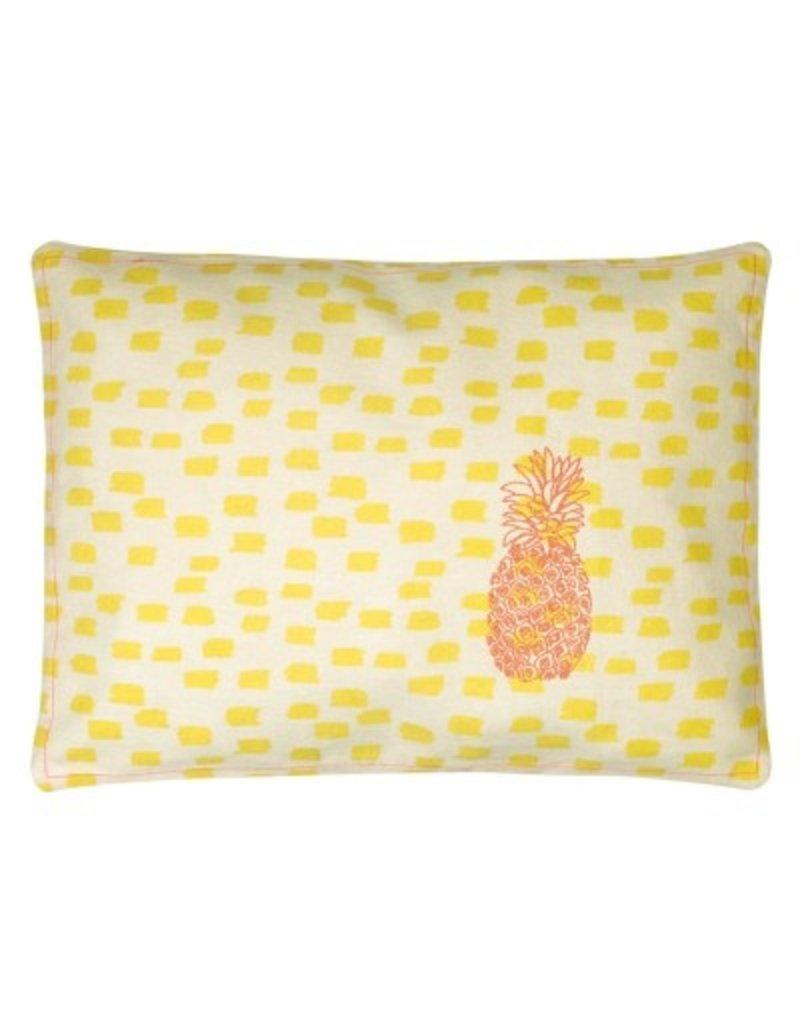 Mimi Lou Mimi Lou Pineapple Embroidered Cushion