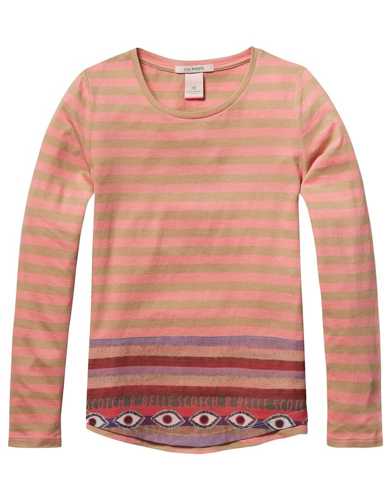 Scotch Rbelle Scotch RBelle Tee with woven detail