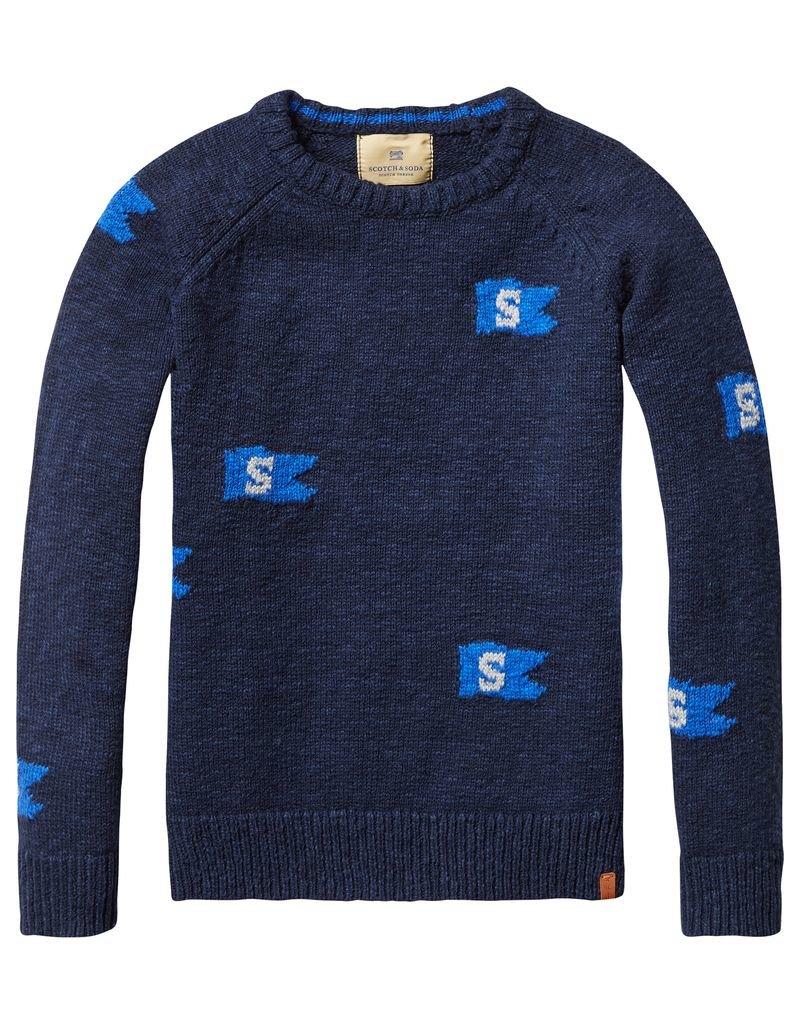 Scotch Shrunk Scotch Shrunk Pullover with flag detail
