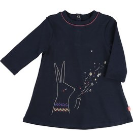 Billie Blush Billie Blush Jersey dress, long sleeves, bow-shaped, pleats at the back.