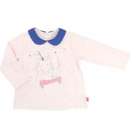 Billie Blush Billie Blush Jersey long sleeve tee shirt with peterpan collar