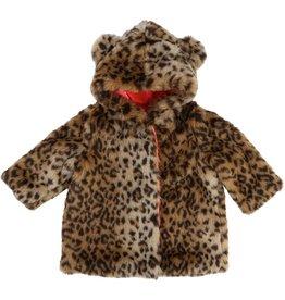 Billie Blush Billie Blush Fake leopard fur coat, hood and ears