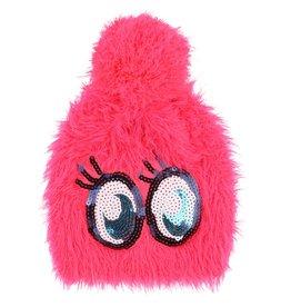 Billie Blush Billie Blush Knitted hat with pompom and eyes