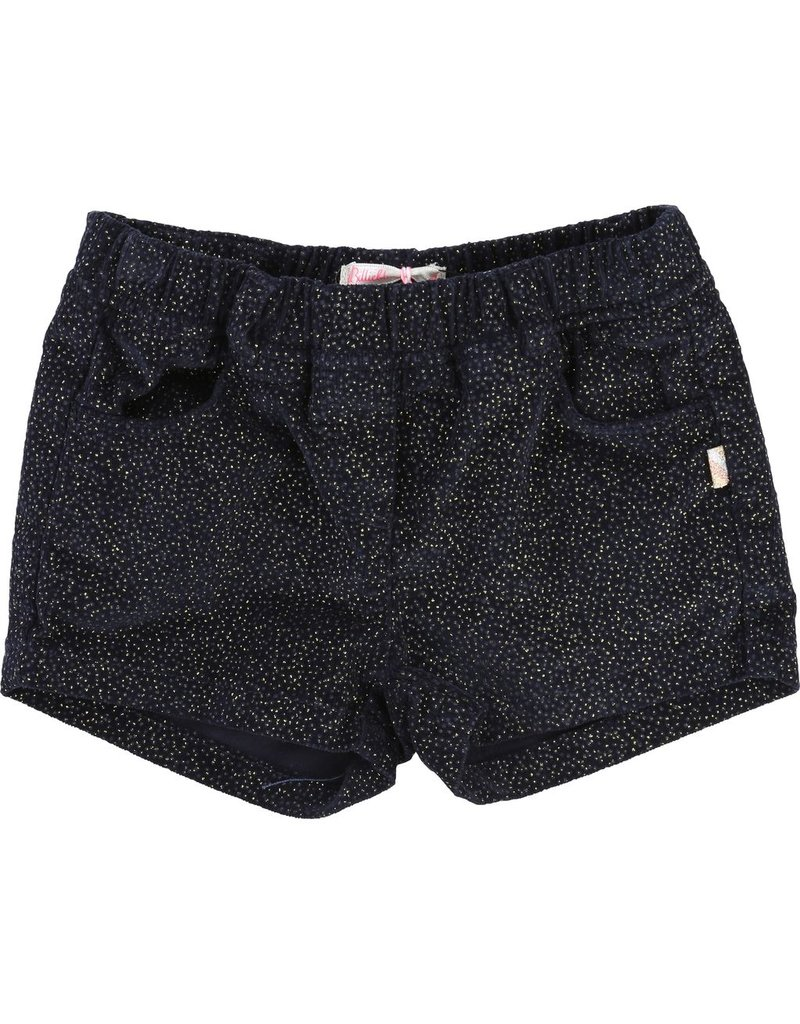 Billie Blush Billie Blush Velvet shorts, glitter effect