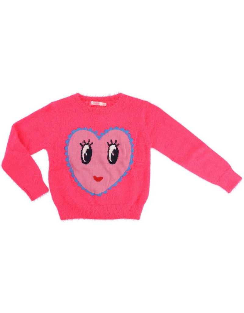 Billie Blush Billie Blush Knitted hairy sweater with jaquard pattern