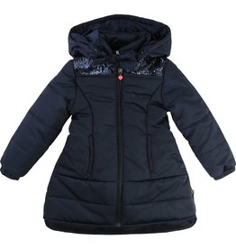 Billie Blush Billie Blush Nylon puffer jacket, long, removable hood.