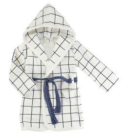 Carrement Beau Carrement Beau Checked terry velvet bathrobe