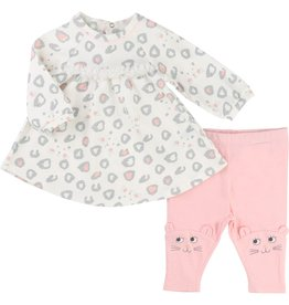 Little Marc Jacobs Little Marc Jacobs Set of all-over printed interlock dress and jersey leggings
