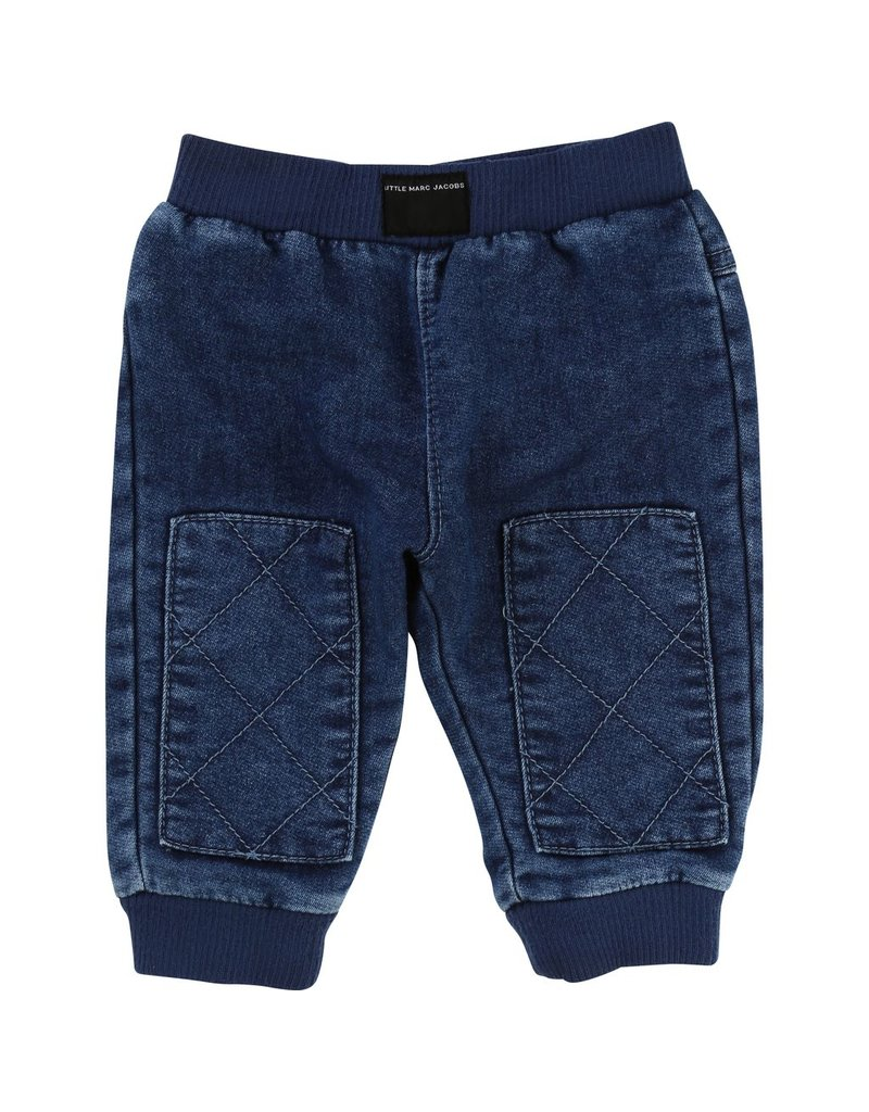 Little Marc Jacobs Little Marc Jacobs Fleece trousers with patches