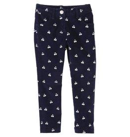 Little Marc Jacobs Little Marc Jacobs Shorn velvet trousers, allover printed silver.