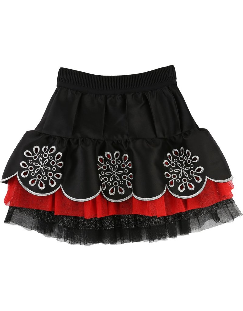 Little Marc Jacobs Little Marc Jacobs Satin silk, tulle skirt, embroidery & rhinestones