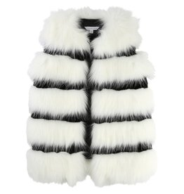 Little Marc Jacobs Little Marc Jacobs Sleeveless and striped Faux fur cardigan.