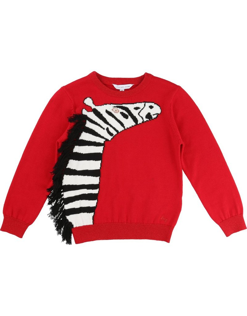 Little Marc Jacobs Little Marc Jacobs Knitted sweater with Zebra