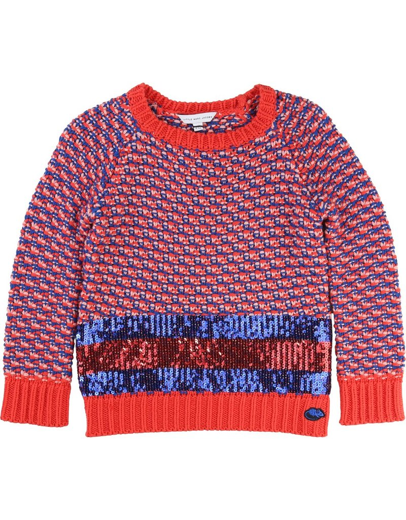Little Marc Jacobs Little Marc Jacobs knitted sweater with sequins