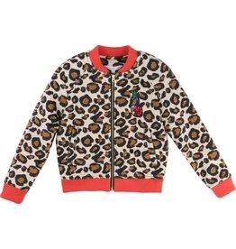 Little Marc Jacobs Little Marc Jacobs Faux fur cardigan zip closure with logo.