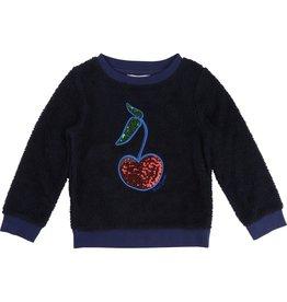 Little Marc Jacobs Little Marc Jacobs Faux fur cherry sweater