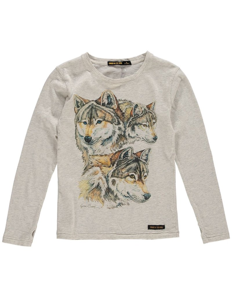 Finger in the Nose Finger in the Nose Nolita Wolf Band LS Tee