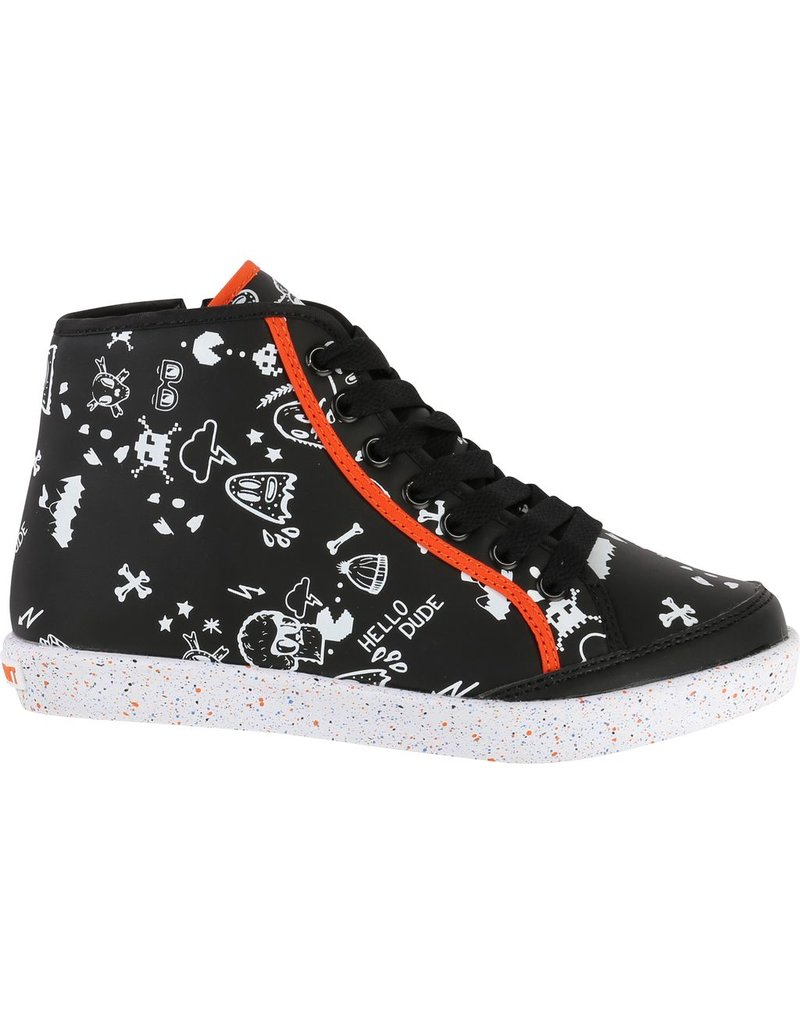 Billy Bandit Billy Bandit Hight-up trainers with white all-over printed, outsole multicolor.