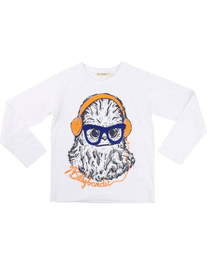 Billy Bandit Billy Bandit Cotton jersey tee shirt, monster with earmuffs