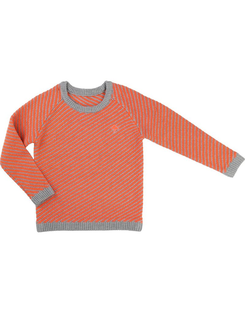 Billy Bandit Billy Bandit Cashmere touch knitted sweater mixed with neon yarn, cloud embroideryoidery on chest.