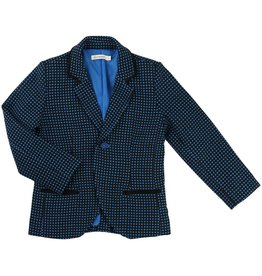 Billy Bandit Billy Bandit Weave suit jacket with dots in blue color