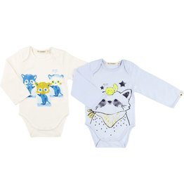 Billy Bandit Billy Bandit Set of 2 bodysuits with fancy print on the front, snap fastener.