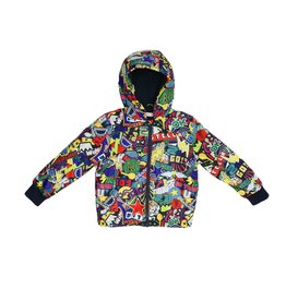 Stella McCartney Kids Stella McCartney Kids Scout Sticker Print Jacket