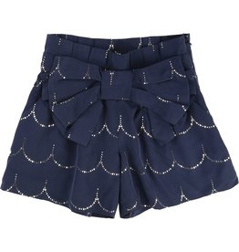 Carrement Beau Carrement Beau Silk effect modal shorts with gold print