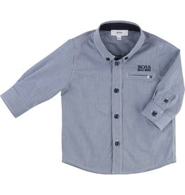 Hugo Boss BOSS Gingham cotton poplin shirt