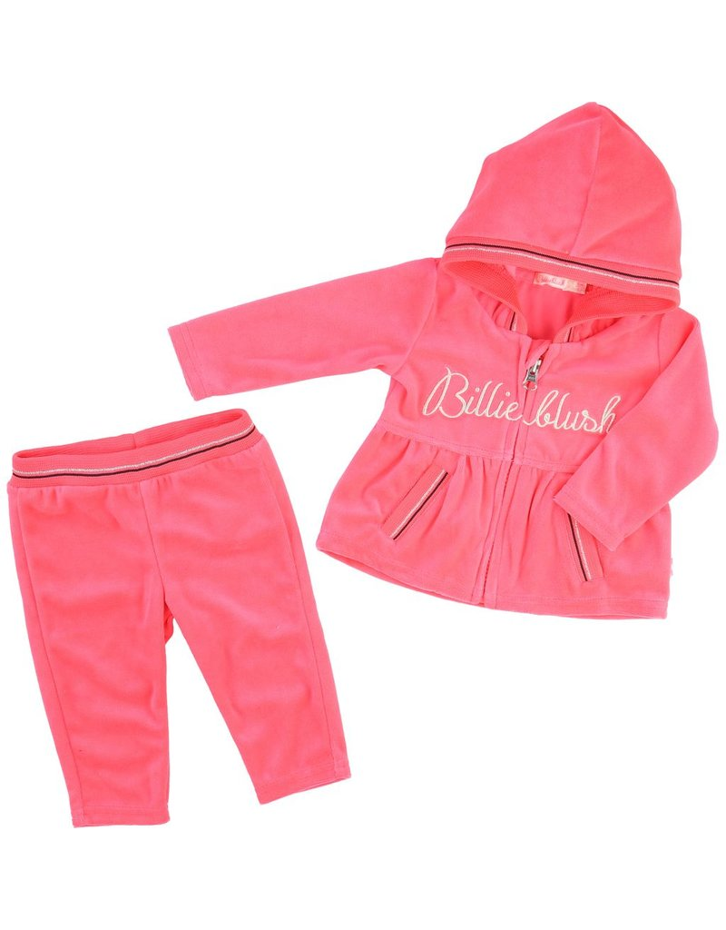 Billie Blush Billie Blush Velvet joggings set